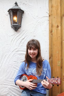 Carla McCarthy, aged 13, who won the Under-15's Busking competition pictured at the Family Fun Day as part of the Mid May Festival in Midleton on Sunday 18/05/2014 Pic: Diane Cusack