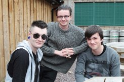 Members of the Rich City Vultures band, James Barry, Patrick Geaney and Conal Murphy from Mallow, pictured at the Family Fun Day as part of the Mid May Festival in Midleton on Sunday. 2014 Pic: Diane Cusack