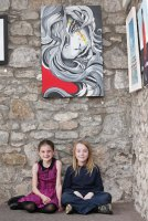 Ottilie Millar, 9, from Kilcredan and Timmy Treacy-Pearse, 9, from Shanagarry pictured at the Mid-May Festival, a celebration of the arts in Midleton, on Saturday. Pic: Diane Cusack 2014